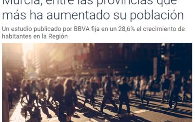 Murcia, entre las provincias que más ha aumentado su población
